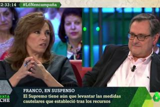 """El Quilombo / Barra libre para los insultos de la socialista Angélica Rubio en laSexta Noche: """"Ortega Smith es un fascista, si por él fuera este programa no existiría"""""""