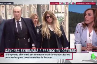 """Encima de cornudos, apaleados: Angélica Rubio dice que la familia de Franco """"debería estar agradecida"""" al Gobierno del PSOE"""