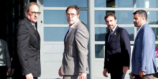 """Torra informa a los golpistas presos que saldrán de la cárcel tras el 10-N: """"Se les ve contentos con la sentencia"""""""
