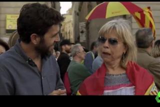 """El Quilombo / La catalana que le sacude un zasca bestial a Gonzo: """"Yo tengo que esconder mi bandera española, ellos no"""""""