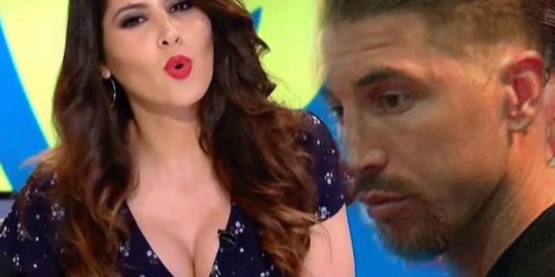 Sergio Ramos, a pesar de tener el escote de Pilar Rubio en casa, se precipita por el canalillo de esta periodista