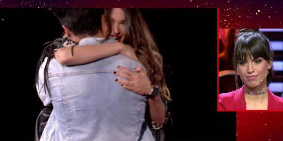 La cara de Sofía Suescun al ver el apasionado reencuentro en GH VIP de su novio Kiko Jiménez con Estela, mujer de Diego Matamoros