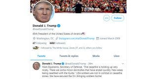 Trump confunde el apellido del secretario de Defensa de EE.UU.; ¿será un error del autocorrector del móvil?