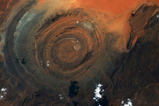 Un astronauta capta el colosal 'Ojo del Sahara' desde la EEI