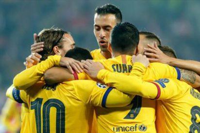 Un flojo Barça sufre para vencer al modesto Slavia de Praga (1-2)