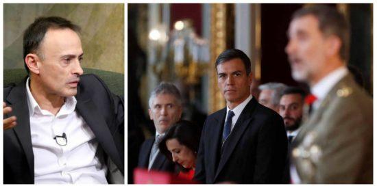 Luis Ventoso se harta tanto de las mentiras de Sánchez y Marlaska sobre Cataluña que incluso le cae un palito a Felipe VI