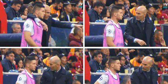 Zidane y Jovic no se entienden, tal y como demuestran estas imágenes