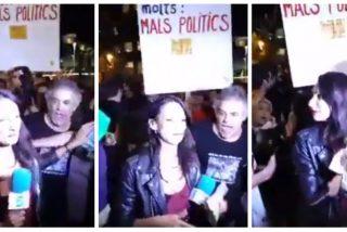 ¿A qué espera Sánchez para aplicar el 155 en Cataluña? Otra reportera, esta vez de Telecinco, agredida por los 'indepes'