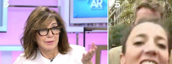 """Una exaltada 'indepe' se cuela en Telecinco para llamar """"mentirosa"""" a Ana Rosa y la presentadora le quita la tontería de golpe"""