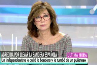 """Ana Rosa Quintana describe a la perfección al indeseable separatista que agredió a una señora en Tarragona: """"¡Qué cobarde de mierda!"""""""