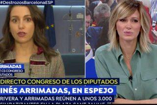 """Con esta contundencia desmonta Arrimadas el malicioso comentario de Susanna Griso: """"Yo no me he ido de Cataluña. De Rufián no oigo lo mismo"""""""