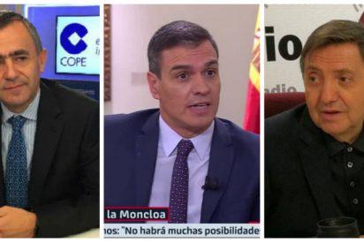 """Losantos, endemoniado con el esperpento de la exhumación de Franco: le hace la cruz a la COPE y pisotea al """"lerdo majadero"""" de Sánchez"""
