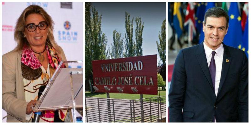 La Universidad Camilo José Cela produce tesis como salchichas, pero con distinto resultado: aquí solo pringa la 'pardilla' Canoyra mientras Sánchez se aferra al cargo