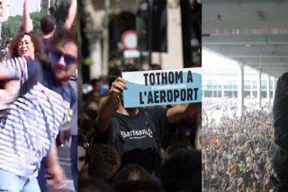 Otro día más de la infamia para vergüenza del independentismo 'democrático': cargas policiales, vandalismo, agresiones, vuelos cancelados e infraestructuras cortadas