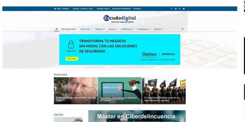Nace 'Escudo Digital', nuevo periódico 'online' especializado en el mundo de la seguridad