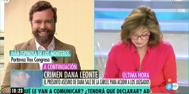 El glorioso troleo de Espinosa de los Monteros cuando revela en Telecinco quién es para él la política más atractiva