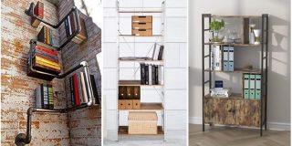 estanterías de pared estilo industrial
