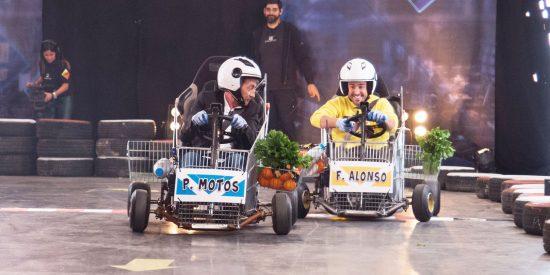 El 'tortazo' que se pegó Pablo Motos en los ensayos de una prueba con Fernando Alonso y no se vio en 'El Hormiguero'