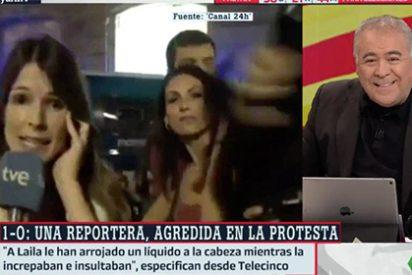 Ferreras nunca pide perdón: así utiliza el acoso brutal a las periodistas el 1-O para justificar la bobada de su reportero-actor