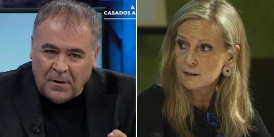 """laSexta denuncia """"violencia policial"""" en Cataluña e Isabel San Sebastián estalla a lo bestia ante Ferreras: """"Dais asco"""""""