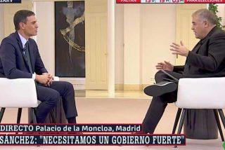 """Las redes cargan con dureza por el masaje de Ferreras a Sánchez nada más sacar a Franco del Valle: """"¡Lameculos!"""""""