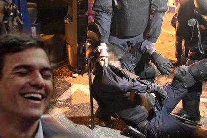El Gobierno Sánchez sólo paga 10,66 euros brutos la hora a los policías y guardias civiles que se juegan la vida en la 'ratonera Catalana'; menos de lo que cobran las señoras de la limpieza