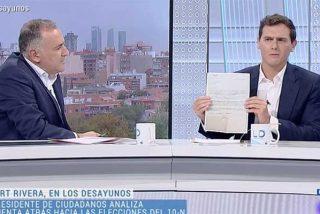 Albert Rivera hace saltar por los aires el control que impone Rosa María Mateo en TVE y exige su dimisión ante un acalambrado Fortes