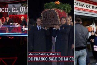 Sánchez se sale con la suya: las TV pican con gusto el anzuelo y montan un show con la exhumación de Franco y ya nadie comenta una EPA terrorífica