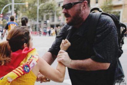 Las redes se unen para cazar a otro matón que agredió brutalmente a una joven con la bandera de España