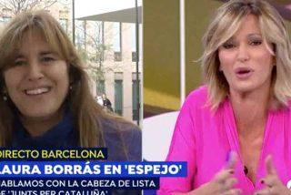 """Colosal tensión y mal rollo de Susanna Griso con la 'indepe' que catalanizaba su apellido: """"¡Que no me llame 'Grisu'!"""""""
