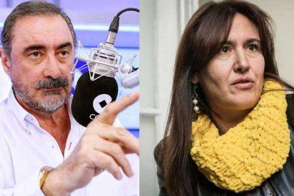 Herrera se merienda con patatas a la inculta independentista que insinuó en su programa que Cataluña es una colonia española
