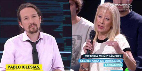 """El impecable rapapolvo de esta catalana a Iglesias en defensa de la Policía y la Guardia Civil: """"¡Les debemos mucho y tú no los apoyas!"""""""