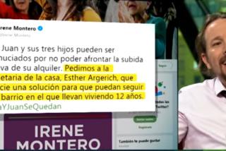 Pablo Iglesias saca toda su chulería a paseo y se adhiere al acoso de Irene Montero a la dueña de un piso por subir el alquiler a una familia