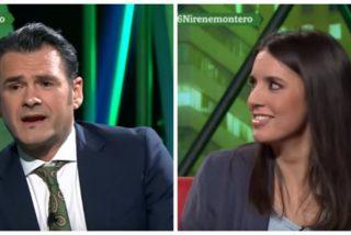 La cara de topo estupefacta que se le queda a Irene Montero con el malévolo comentario de Iñaki López sobre Errejón