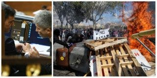 La salvaje violencia de los CDR incendia Barcelona ante la pasividad del cobarde Marlaska y del electoralista Sánchez