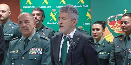 """Fernando Grande-Marlaska manda al 'matadero catalán' a una Guardia Civil que lanza un grito desesperado: """"¡Estamos desprotegidos!"""""""