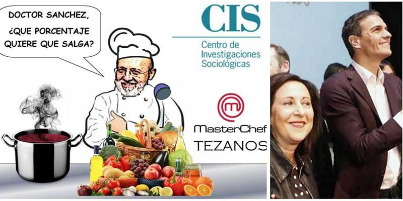 El CIS de Tezanos acude en auxilio de un Pedro Sánchez en horas muy bajas y las redes le bajan la euforia a golpe de ironía y sarcasmo