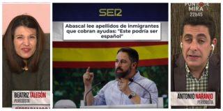 El Quilombo / Naranjo le mete un corte brutal de un minuto a la tropa de mentirosos de Mejide por acusar a Abascal de racista
