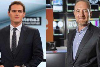 Albert Rivera vuelve a denunciar por enésima vez la manipulación en TVE y el 'comisario de Moncloa' Enric Hernández se le pone farruco