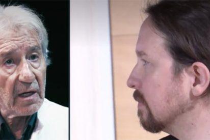 'Más Errejón' ya tiene su primer famosete: José Sacristán se lanza al cuello de Iglesias por su sed de poder