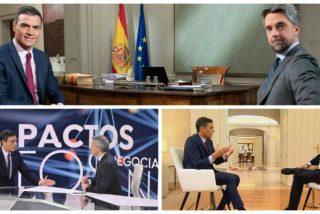 'Canal Sánchez 24 Horas': El 'okupa' de La Moncloa lleva 11 entrevistas en las televisiones en menos de año y medio de mandato