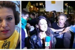 Beatriz 'bocachancla' Talegón usa la agresión a una reportera de Telecinco en Barcelona para hacer pasar por víctimas a los golpistas de la TV3