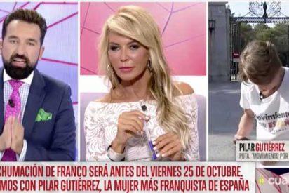 Así falta el respeto la tropa 'progre' de Risto Mejide a una señora mayor: tienen esperando un cuarto de hora a Pilar Gutiérrez para luego mofarse de ella hasta que se va indignada