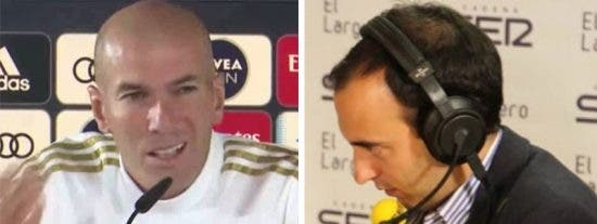 El tremendo enfado de Zidane en rueda de prensa con el periodista Antón Meana (SER) por incidir en el caso Courtois