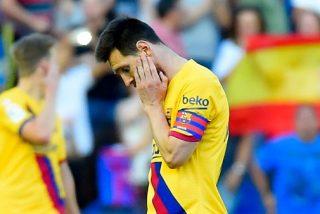 El Barça pincha y 'desaparece del campo' en siete minutos ante el Levante (3-1)