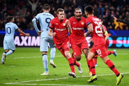 El Bayer Leverkusen se lo puso muy difícil a un Atlético sin ideas (2-1)