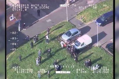 Vídeo viral: Arroja gasolina a 8 policías y acaba condenado a casi 4 años de cárcel