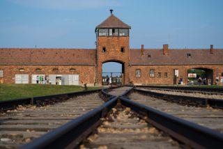 Bloguero, con poca gracia, obligado a pedir perdón por publicar una fotografía de un pato de goma en los raíles del campo de concentración de Auschwitz