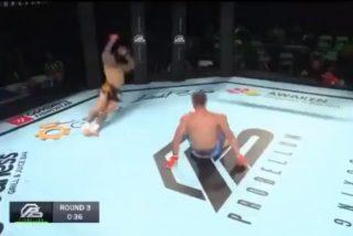 Vídeo viral: Este luchador de artes marciales mixtas acaba con su rival con una espectacular patada acrobática