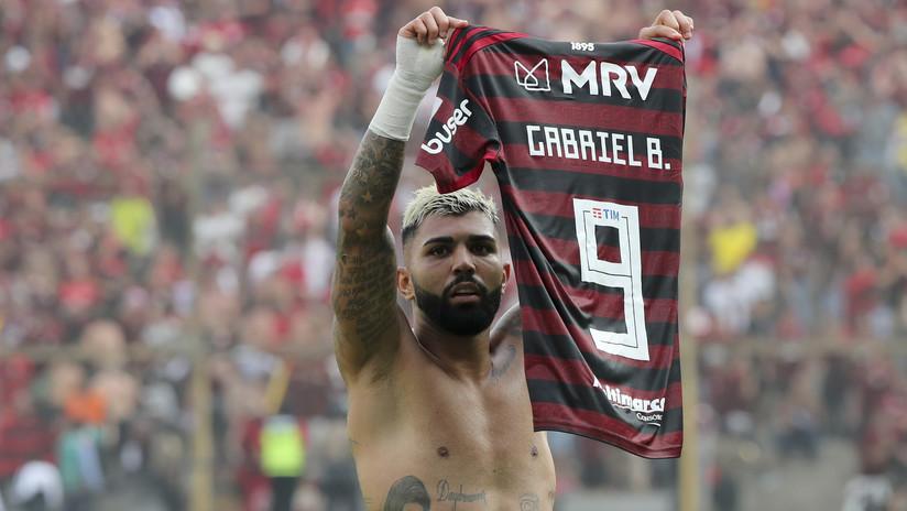 Gabigol rompió la 'maldición' de tocar la Copa Libertadores